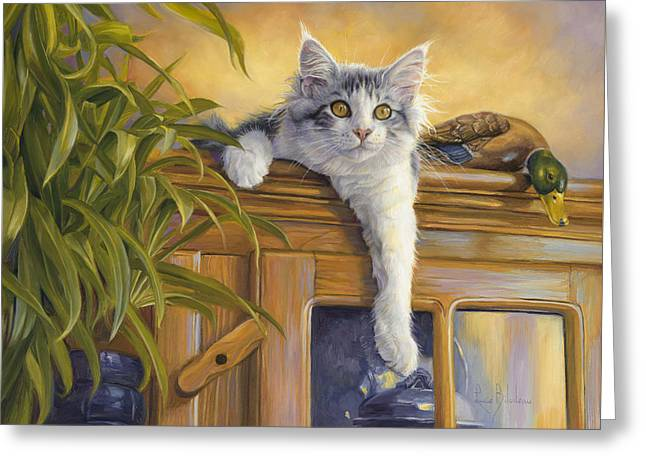 Observation Post Greeting Card by Lucie Bilodeau