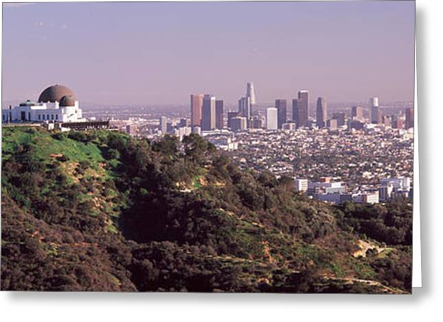 Observatory On A Hill With Cityscape Greeting Card by Panoramic Images
