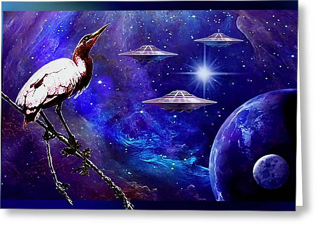 Observing The Majesty Of The Universe. Greeting Card
