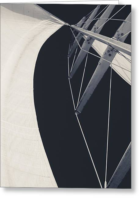 Obsession Sails 9 Black And White Greeting Card