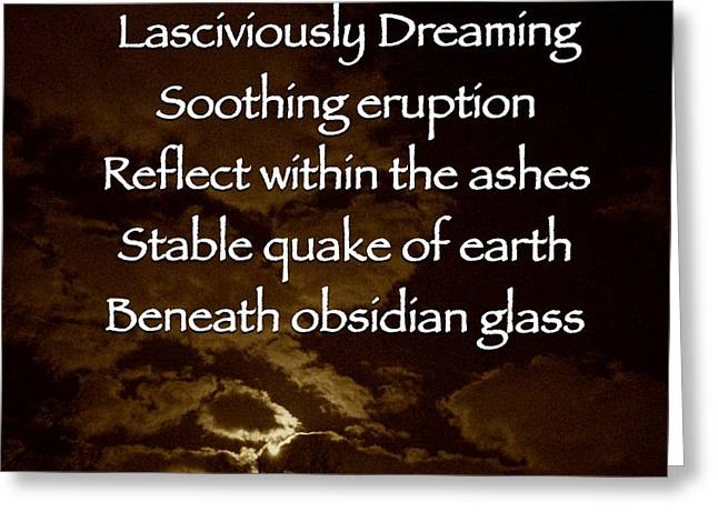 Obsidian Glass Greeting Card