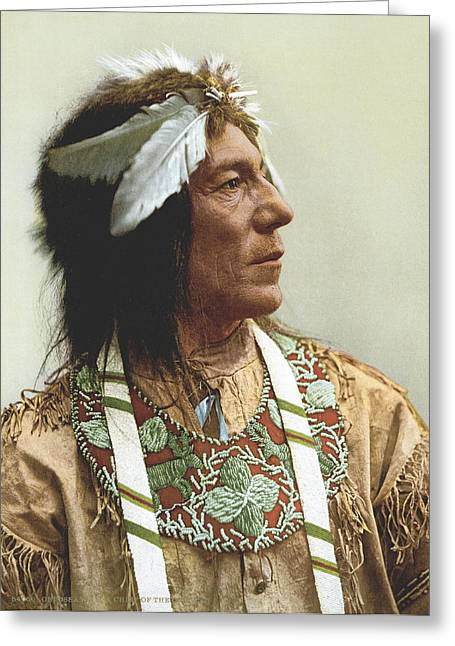 Obtossaway, An Ojibwa Chief Greeting Card by Underwood Archives