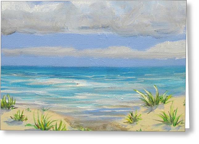 Obx Dune Greeting Card by Anne Marie Brown