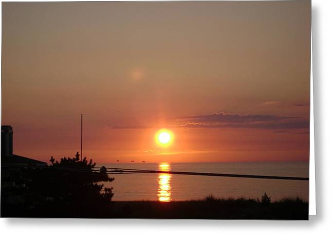 Obx Sunset Greeting Card