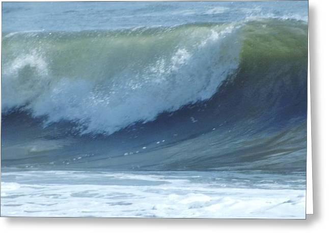 Oc Big Surf Greeting Card by John Wartman