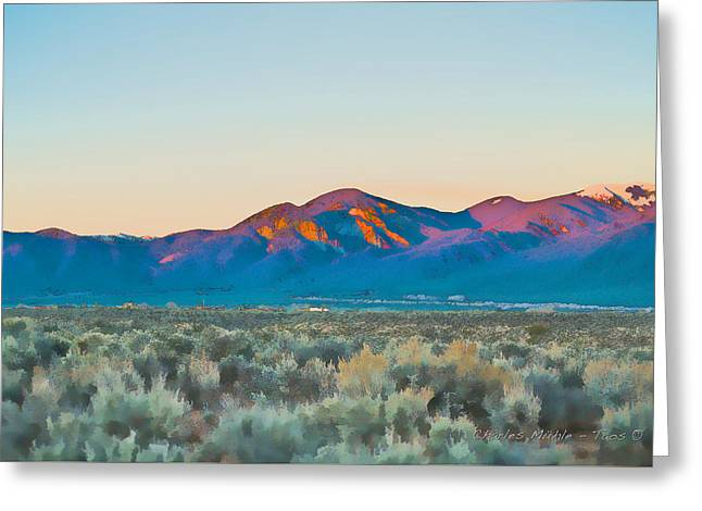 Ocaso Greeting Card by Charles Muhle