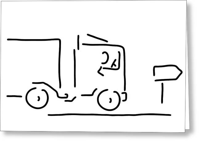 Occupational Motorist Truck Driver Greeting Card by Lineamentum