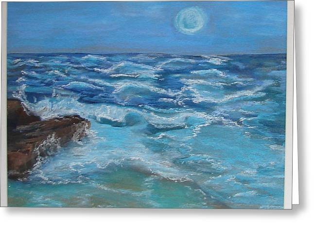Greeting Card featuring the drawing Ocean 1 by Joseph Hawkins