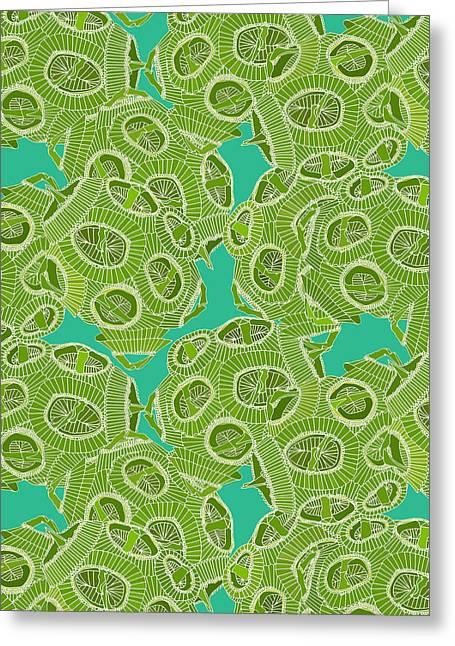 Ocean Algae Greeting Card by Sharon Turner
