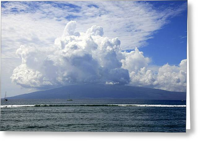 Ocean And Clouds Greeting Card