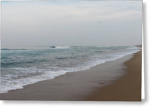 Greeting Card featuring the photograph Ocean At Buxton Nc 4 by Cathy Lindsey