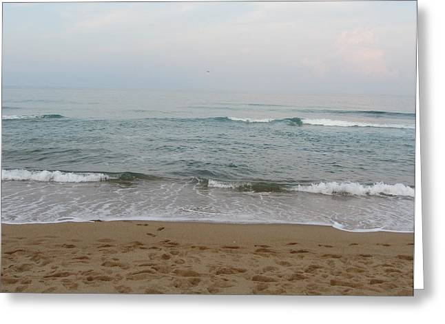Greeting Card featuring the photograph Ocean At Buxton Nc by Cathy Lindsey