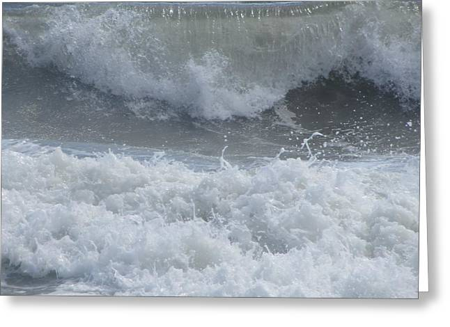 Greeting Card featuring the photograph Ocean At Kill Devil Hills by Cathy Lindsey