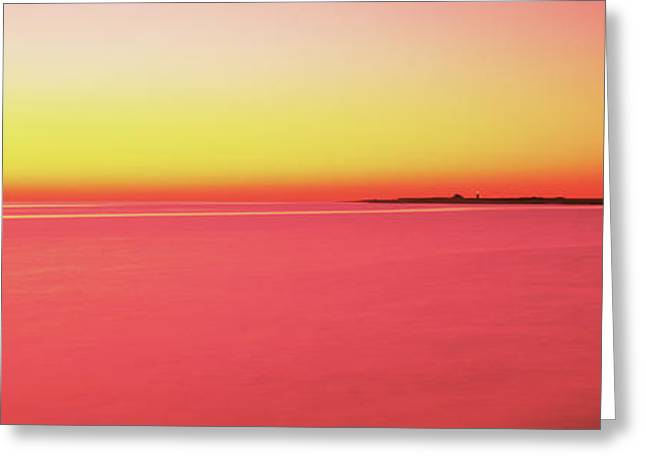 Ocean At Sunset, Provincetown, Cape Greeting Card by Panoramic Images