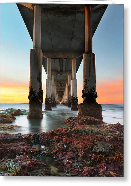 Ocean Beach California Pier 2 Greeting Card