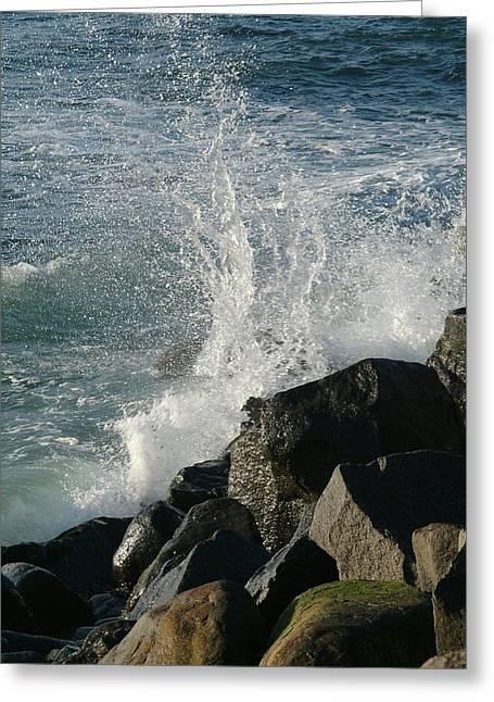 Ocean Beach Splash 2 Greeting Card