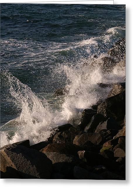 Ocean Beach Splash 3 Greeting Card