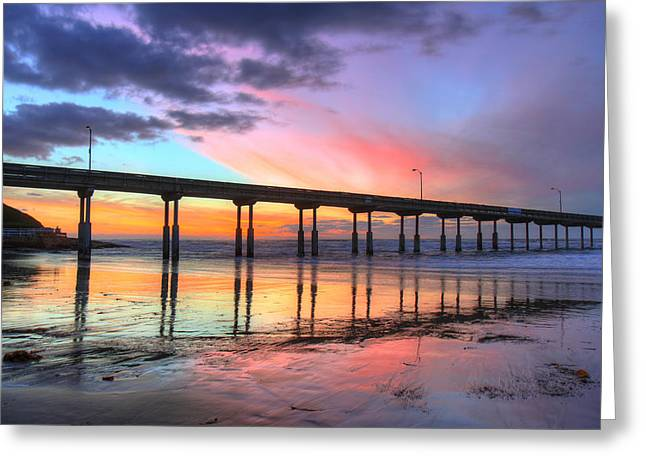 Ocean Beach Sunset Greeting Card