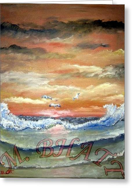 Ocean Beauty Greeting Card by M Bhatt