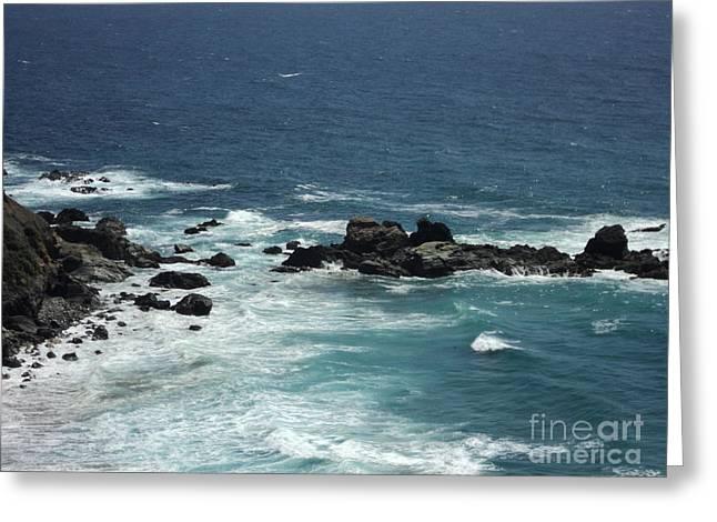 Ocean Blue Greeting Card by Carla Carson