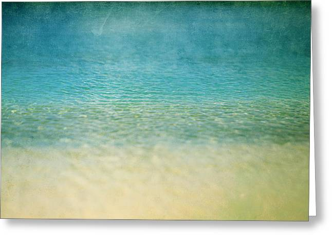 Ocean Blue Greeting Card by Heather Green