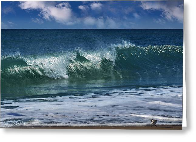 Ocean Blue Morning 2 Greeting Card by Laura Fasulo