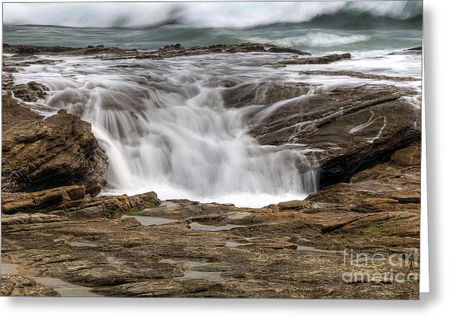 Ocean Cascade Greeting Card by Eddie Yerkish