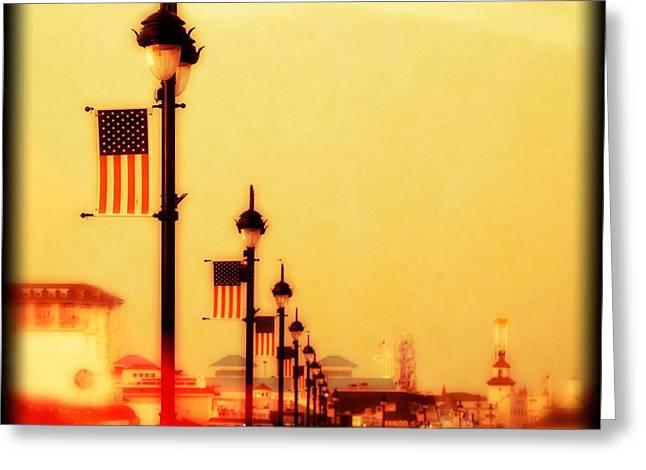 Ocean City At Dusk Greeting Card