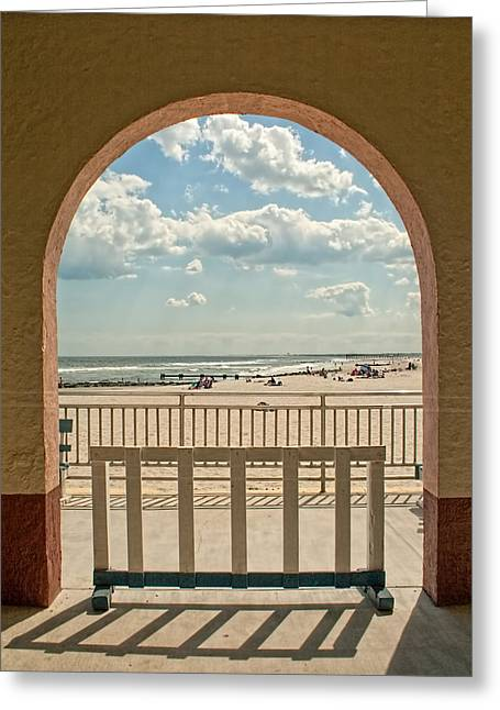 Ocean City Beach View Greeting Card