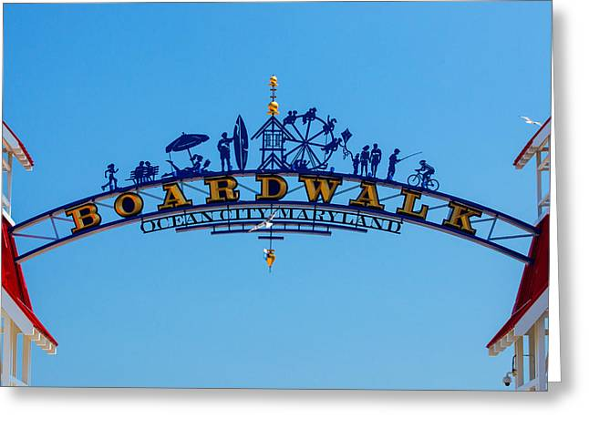 Ocean City Boardwalk Arch Greeting Card