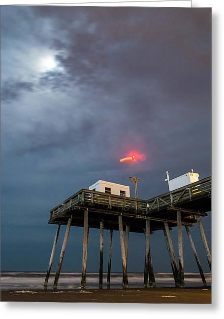 Ocean City By Moonlight Greeting Card by Kristopher Schoenleber