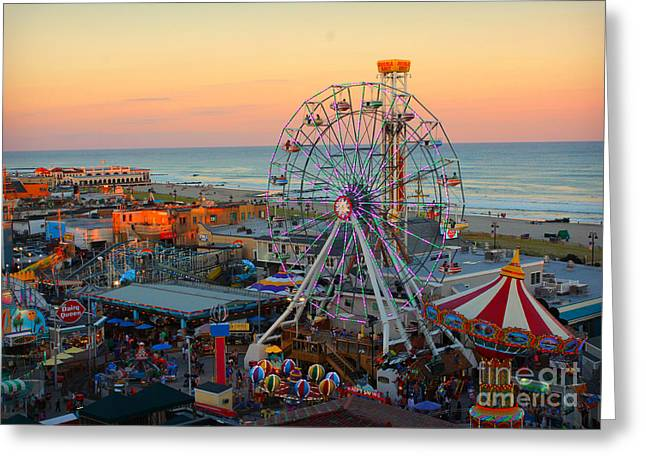 Ocean City Castaway Cove And Music Pier Greeting Card