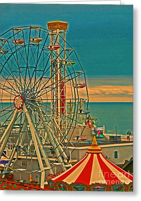 Ocean City Castaway Cove Ferris Wheel Greeting Card