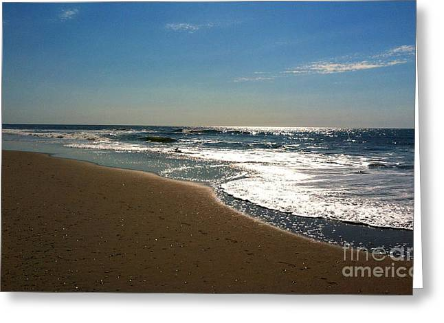 Ocean City Morning Greeting Card by Addie Hocynec