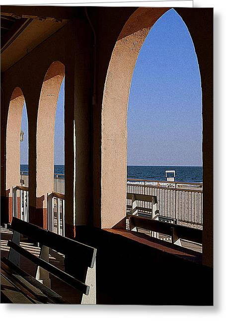 Ocean City Music Pier View Greeting Card by Mary Beth Landis