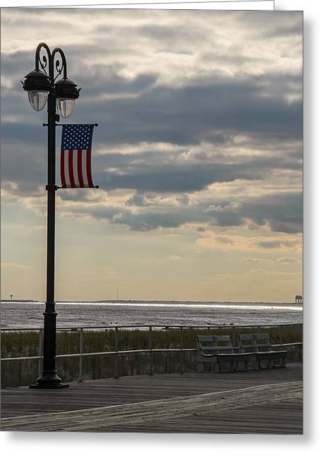 Ocean City New Jersey Boardwalk Greeting Card
