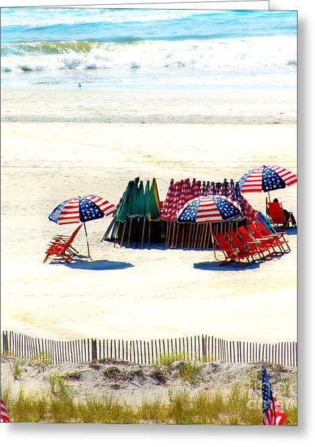 Ocean City Nj Stars And Stripes Greeting Card