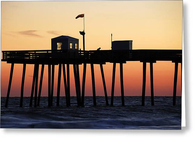 Ocean City Sunset Greeting Card by Dan Myers