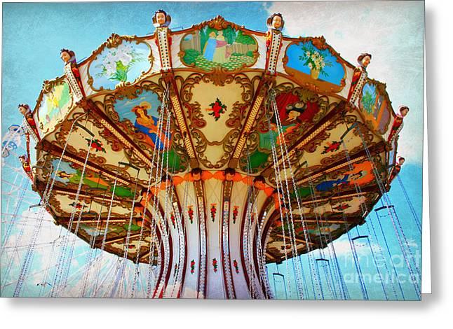 Ocean City Swing Carousel Greeting Card