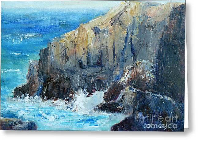 Ocean Cliffs Greeting Card