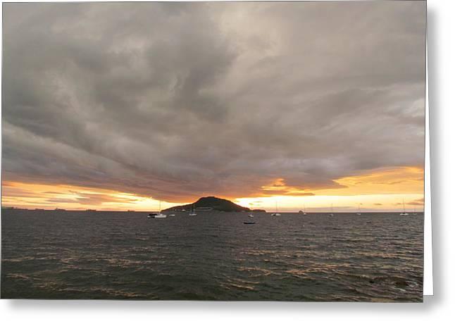 Ocean Cloud Sunrise Greeting Card