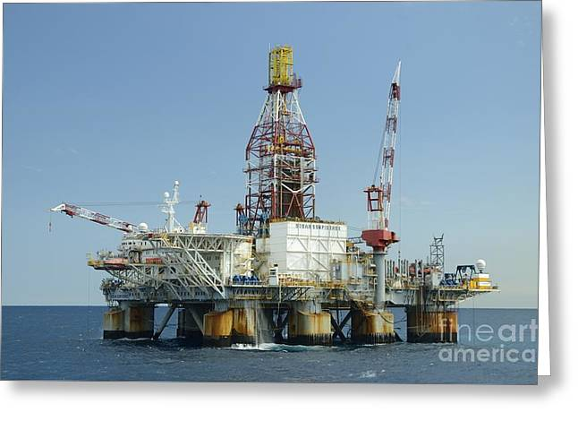 Ocean Confidence Drilling Platform Greeting Card