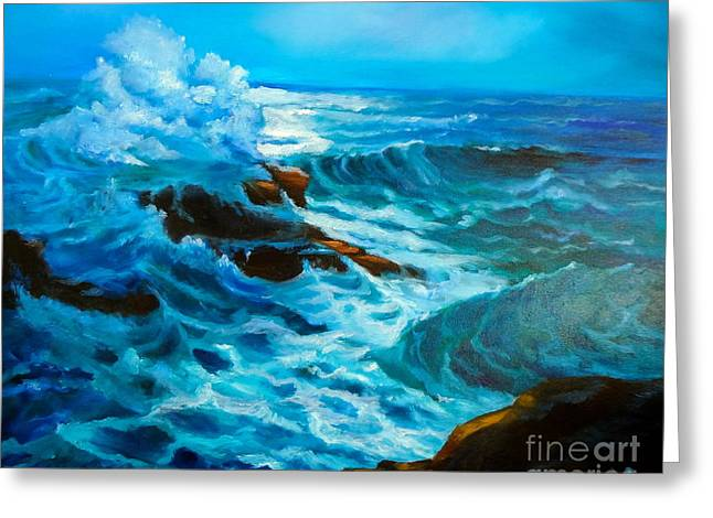 Greeting Card featuring the painting Ocean Deep by Jenny Lee