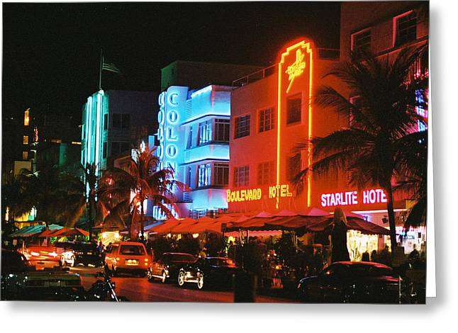 Ocean Drive Film Image Greeting Card