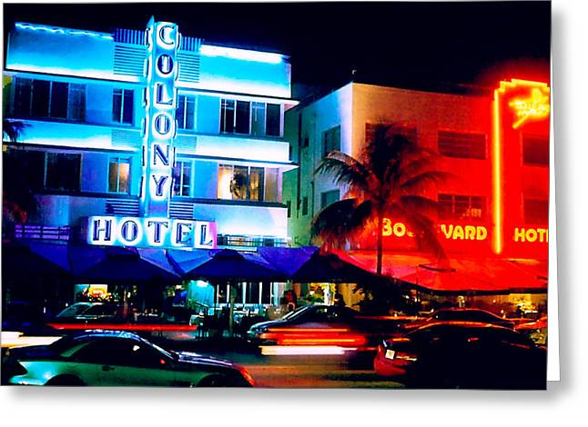 Ocean Drive Polaroid  Greeting Card