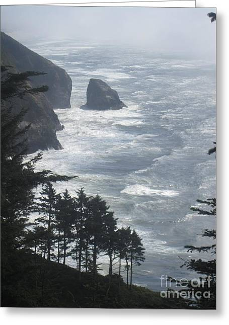 Greeting Card featuring the photograph Ocean Drop by Fiona Kennard
