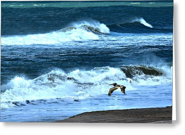 Ocean During A Storm Greeting Card by Sandi OReilly
