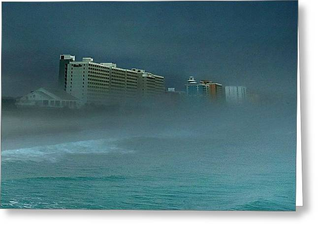 Ocean Fog Greeting Card by Ed Roberts