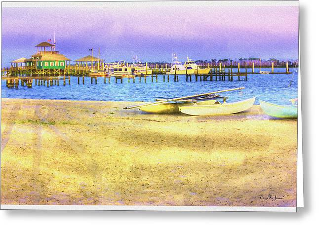 Coastal - Beach - Boats - Ocean Front Property Greeting Card by Barry Jones