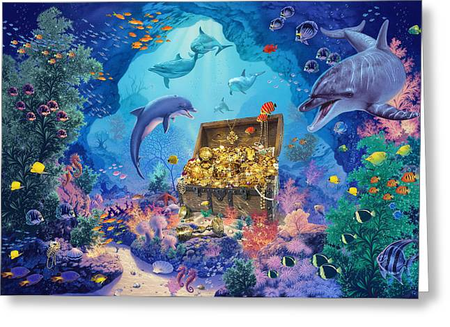 Ocean Grotto Greeting Card by Steve Read